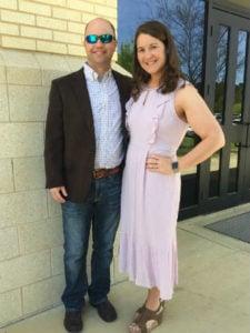 Rebecca Hurst and husband